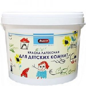 """Фото 15 - Краска """"Аквест -22"""" латексная полуматовая моющаяся для детских комнат интерьерная-14 кг."""
