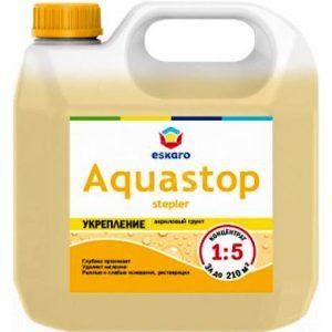 """Фото 8 - Грунт-Концентрат """"Аквастоп Степлер"""" (Aquastop Stepler) 1:5  влагоизолятор укрепляющий  [10 л ] Эскаро/ Eskaro."""