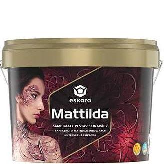 """Фото 1 - Краска Ескаро """"Матильда"""" (Mattilda) матовая акрилатная моющаяся для внутренних работ  [0.95л] цвет [База А] Eskaro."""