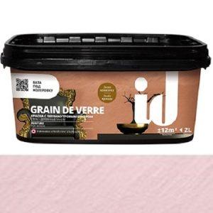 """Фото 2 - Краска АйДи Деко """"Grain de Verre Виконтесса"""" с перламутровым бисером  [2л] ID Deco."""