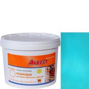 """Фото 4 - Краска резиновая """"Аквест -25 Мастер"""" Бирюзовая полуматовая с гидроизолирующими свойствами-12 кг."""