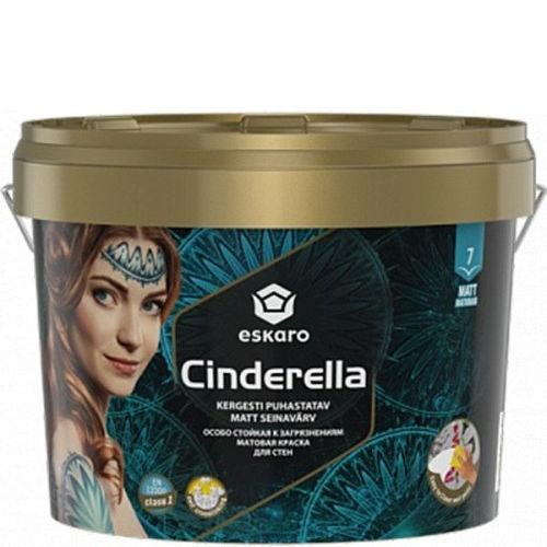 """Фото 1 - Эмаль Ескаро """"Синдерелла"""" (Cinderella) матовая интерьерная особо стойкая к загрязнениям  [0.9л] цвет [База TR] Eskaro."""