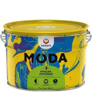 """Фото 3 - Краска Ескаро """"Мода 3"""" (Moda 3)  матовая для стен и потолков  [9л] цвет [База TR] Eskaro."""