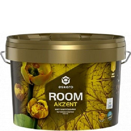 """Фото 1 - Краска Ескаро """"Акцент Рум"""" (Akzent Room) матовая интерьерная  [0.9л] цвет [База TR] Eskaro."""
