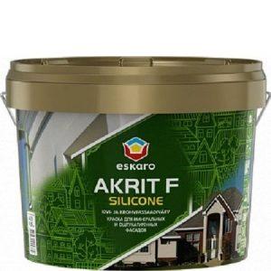 """Фото 8 - Краска Ескаро """"Акрит Ф Силикон"""" (Akrit F Silicone) глубокоматовая силиконовая для фасадов  [2.7л] цвет [База TR] Eskaro."""