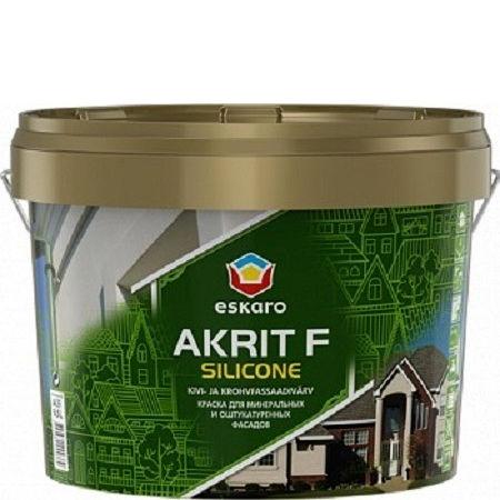 """Фото 3 - Краска Ескаро """"Акрит Ф Силикон"""" (Akrit F Silicone) глубокоматовая силиконовая для фасадов  [2.7л] цвет [База TR] Eskaro."""