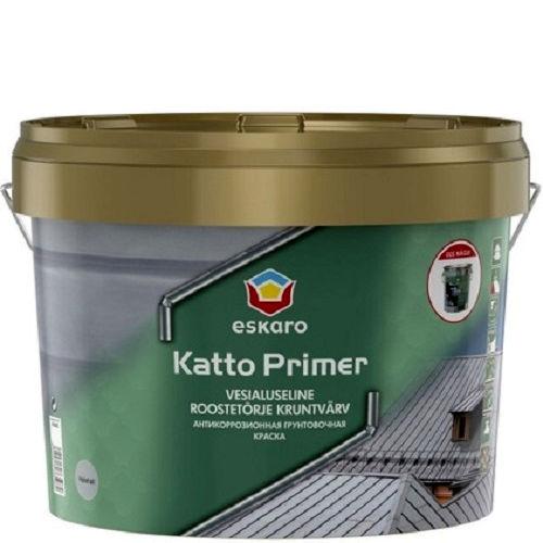 """Фото 2 - Краска Ескаро-Грунт """"Катто"""" (Katto Primer) матовая для оцинкованных и металлических поверхностей """"Eskaro"""" [0.9л] Eskaro."""