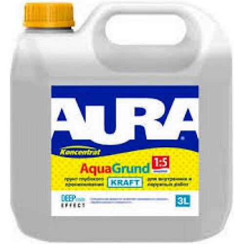 Фото 2 - Грунт Aura Aqua Grund Kraft, акриловый, концентрат, 1:5, 10л, Бесцветный, Аура.