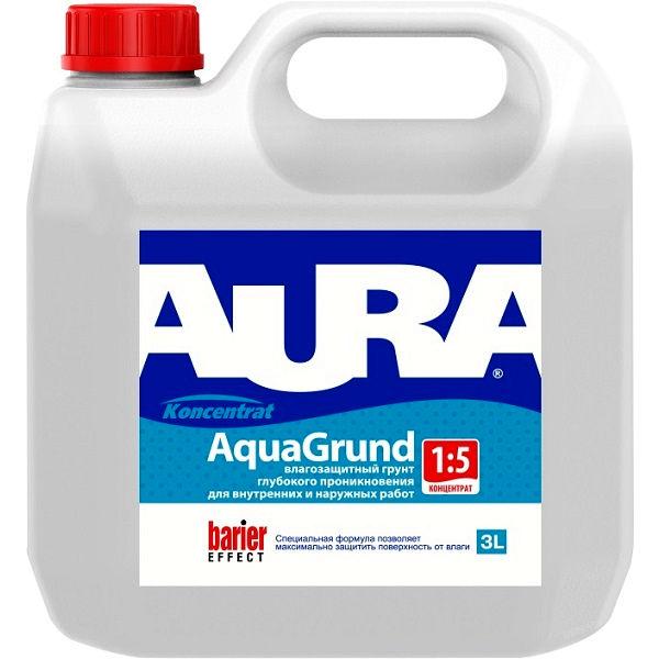 Фото 3 - Грунт Aura Aqua Grund, акриловый, влагоизолятор, концентрат 1:5, 10л Бесцветный, Аура.