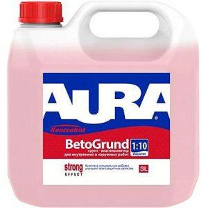"""Фото 5 - Грунт-концетрат """"Аура Бето"""" (Aura Beto Grund) влагоизолятор концентрат 1:10  [10л]  [Бесцветный]"""" """"Аура/Aura""""."""