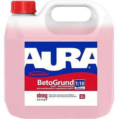 Фото 4 - Грунт Aura Beto Grund, акриловый, влагоизолятор, концентрат 1:10, 10л Бесцветный, Аура.