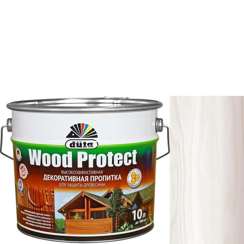 """Фото 15 - Пропитка Дюфа """"Вуд Протект"""" (Wood Protect) Белая, полуматовая для защиты древесины [10л] Dufa."""