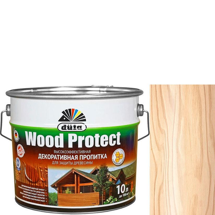 """Фото 17 - Пропитка Дюфа """"Вуд Протект"""" (Wood Protect) Бесцветная, полуматовая для защиты древесины [10л] Dufa."""