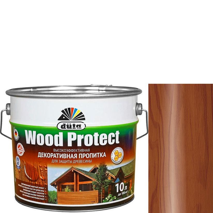 """Фото 21 - Пропитка Дюфа """"Вуд Протект"""" (Wood Protect) Махагон, полуматовая для защиты древесины [10л] Dufa."""