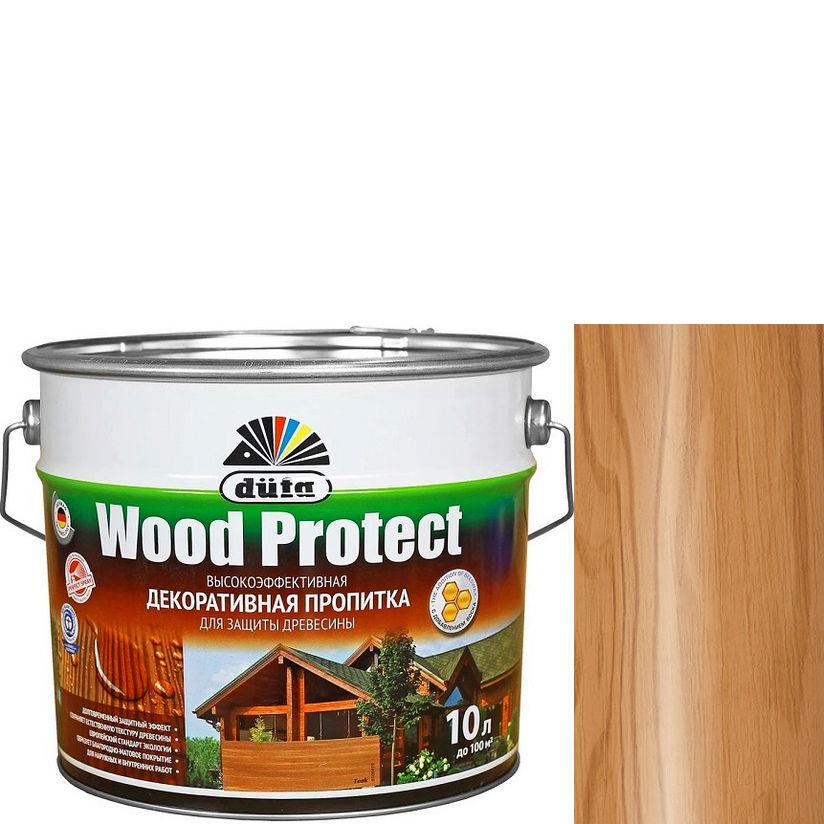 """Фото 23 - Пропитка Дюфа """"Вуд Протект"""" (Wood Protect) Орех, полуматовая для защиты древесины [10л] Dufa."""