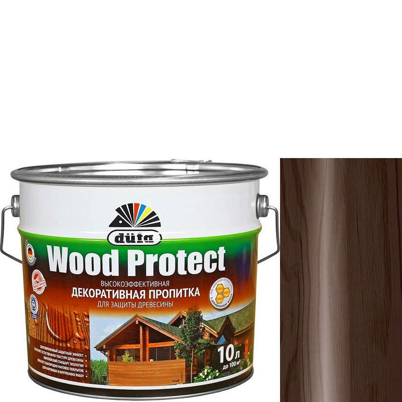 """Фото 25 - Пропитка Дюфа """"Вуд Протект"""" (Wood Protect) Палисандр, полуматовая для защиты древесины [10л] Dufa."""