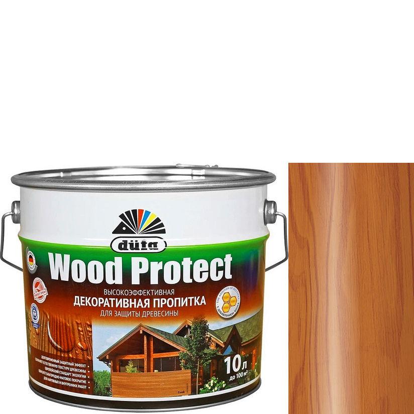"""Фото 15 - Пропитка Дюфа """"Вуд Протект"""" (Wood Protect) Тик, полуматовая для защиты древесины [10л] Dufa."""