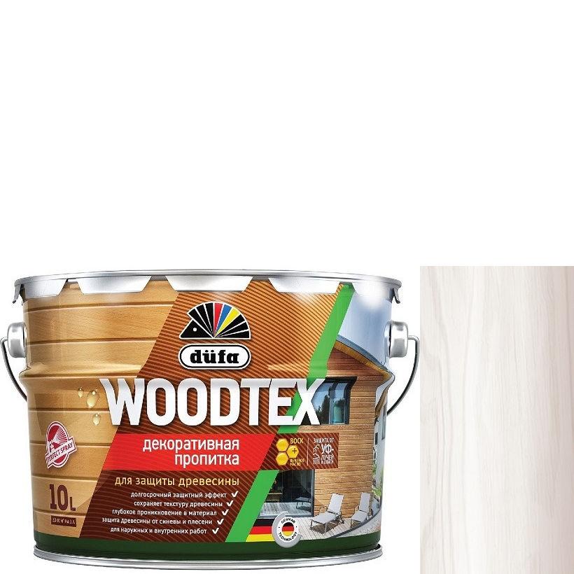 """Фото 18 - Пропитка Дюфа """"Вуд Текс"""" (Woodtex) Белая, алкидная полуматовая для защиты древесины [10л] Dufa."""