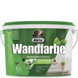 Фото 12 - Краска Дюфа для стен и потолков водно-дисперсионная Wandfarbe D1a матовая [10л] Dufa.