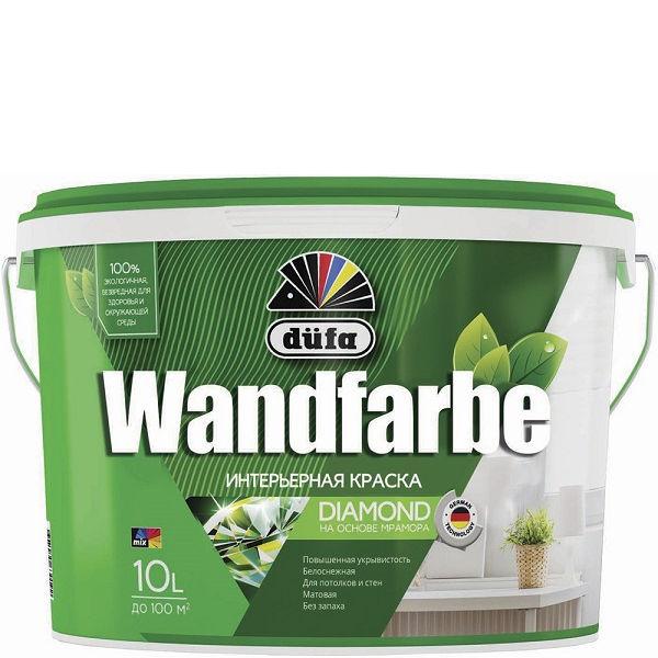 Фото 4 - Краска Дюфа для стен и потолков водно-дисперсионная Wandfarbe D1a матовая [10л] Dufa.