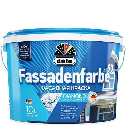 "Фото 3 - Краска Дюфа ""Фассаденфарбе РД90"" (Fassadenfarbe RD90) фасадная водно-дисперсионная белая, матовая [10л] Dufa."