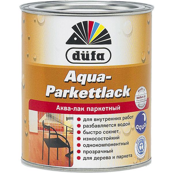 """Фото 1 - Лак Дюфа """"Аква ПаркетЛак"""" (Aqua-Parkettlack) на водной основе, глянцевый [2.5л] Dufa."""