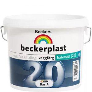 """Фото 1 - Краска Беккерс """"БеккерПласт 20"""" (BeckerPlast 20) латексная полуматовая для стен и потолков База А [2,7л] Beckers."""