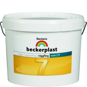 """Фото 7 - Краска Беккерс """"БеккерПласт 7 Интерио"""" (BeckerPlast 7 Interio) латексная матовая для стен и потолков База A [9л] Beckers."""