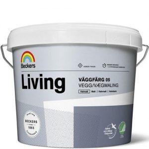 """Фото 11 - Краска Беккерс """"Ливинг Ваггфарг 05"""" (Living Vaggfarg 05) латексная глянцевая интерьерная База C [2,7л] Beckers."""