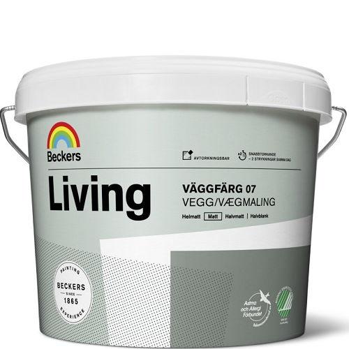 """Фото 19 - Краска Беккерс """"Ливинг Ваггфарг 07"""" (Living Vaggfarg Matt 07) латексная матовая для стен и потолков База C [2,7л] Beckers."""