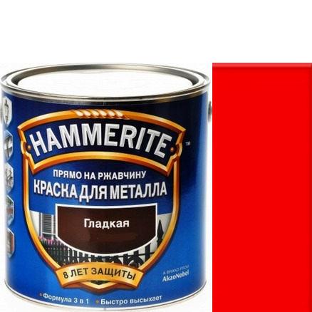 Фото 22 - Краска Хаммерайт Красная, RAL 3020 гладкая глянцевая для металла 3 в 1 [2.2л] Hammerite.