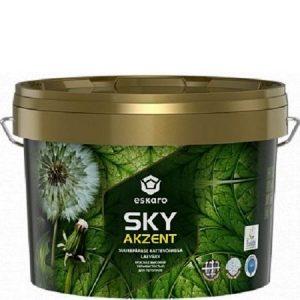"""Фото 12 - Краска Ескаро """"Акцент Скай"""" (Akzent Sky) глубокоматовая для потолков с высокой укрывистостью [2.7л] цвет [Белый] Eskaro."""