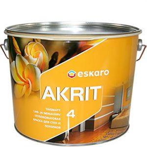 """Фото 20 - Краска Ескаро """"Акрит-4"""" (Akrit-4) глубокоматовая для стен и потолков  [9.5л] цвет [Белый] Eskaro."""