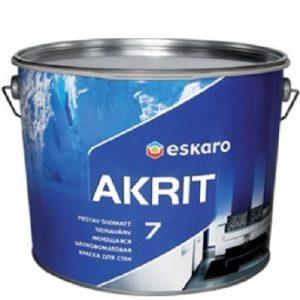 """Фото 21 - Краска Ескаро """"Акрит-7"""" (Akrit-7) шелково-матовая для стен и потолков  [0.95л] цвет [Белый] Eskaro."""