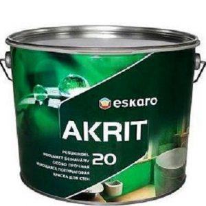 """Фото 14 - Краска Ескаро """"Акрит-20"""" (Akrit-20) полуматовая для стен и потолков  [0.95л] цвет [Белый] Eskaro."""