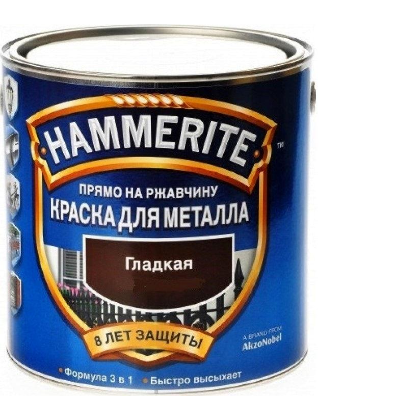 Фото 8 - Краска Хаммерайт Белая, RAL 9016 гладкая глянцевая для металла 3 в 1 [2.5л] Hammerite.