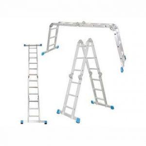 """Фото 10 - """"Лестница-Трансформер"""" Шарнирная алюминиевая многоцелевая   2 секции по 4 ступени + 2 секции по 5 ступ """"Alyumet/Алюмет""""."""