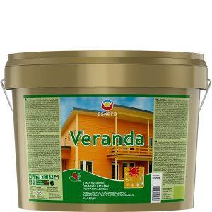 """Фото 9 - Краска Ескаро """"Веранда"""" (Veranda) полуматовая акрилово-масляная для деревянных фасадов  [2.7л] цвет [База TR] Eskaro."""