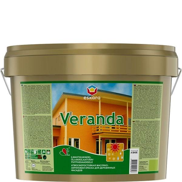 """Фото 22 - Краска Ескаро """"Веранда"""" (Veranda) полуматовая акрилово-масляная для деревянных фасадов  [0.95л] цвет [Белый] Eskaro."""