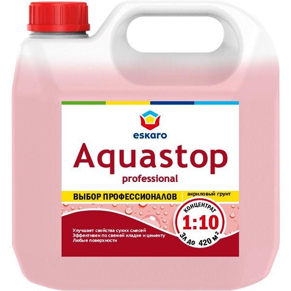 """Фото 7 - Грунт-Концентрат """"Аквастоп Проф"""" (Aquastop Prof) 1:10 акриловый влагоизолятор, модификатор  [10 л] Эскаро/ Eskaro."""