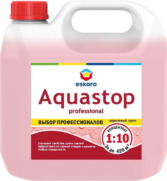 """Фото 6 - Грунт-Концентрат """"Аквастоп Проф"""" (Aquastop Prof) 1:10 акриловый влагоизолятор, модификатор  [1 л] Эскаро/ Eskaro."""