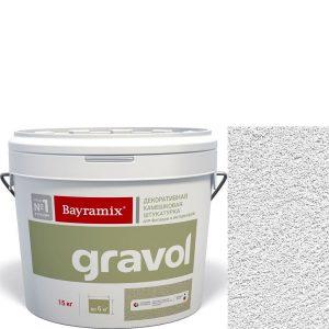 """Фото 18 - Мраморная штукатурка Байрамикс """"Гравол Белый"""" (Gravol) камешковая  с ярко выраженной шубой фракция 1,5 мм  [15кг]  Bayramix."""
