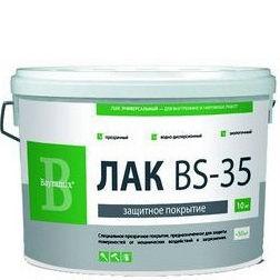 """Фото 9 - Лак Байрамикс """"BS-35"""" для фасадов, прозрачное, полуматовое защитное покрытие [10кг]  Bayramix."""