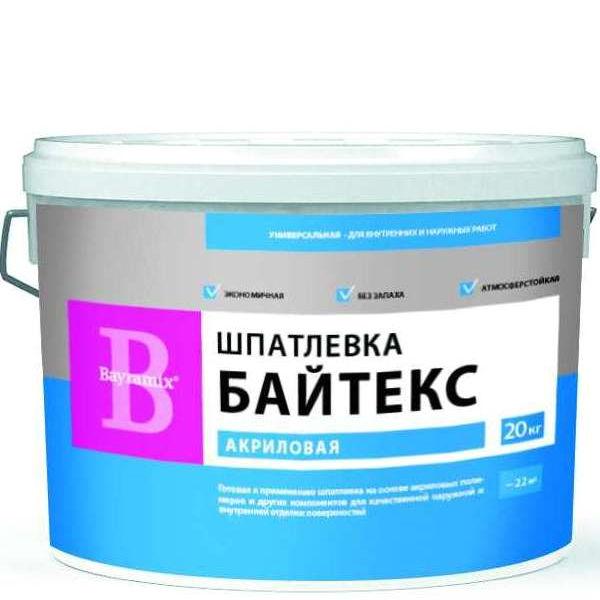 """Фото 2 - Шпатлевка Байрамикс """"Байтекс Белая"""" финишная для фасадных и интерьерных работ [20кг] Bayramix."""