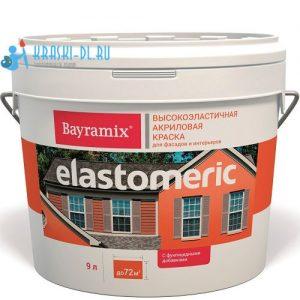 """Фото 1 - Декоративное покрытие Байрамикс """"Эластомерик Белый База-А"""" (Elastomerik) эластичное матовое универсалное  [2,7кг]  Bayramix."""