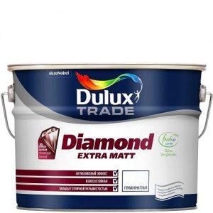 Фото 14 - Краска Дулюкс Diamond Extra Matt, акриловая глубокоматовая износостойкая интерьерная база BW [10л] Dulux.