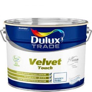 Фото 14 - Краска Дулюкс Вельвет (Velvet Touch) акриловая совершенно матовая для стен и потолков база BW [5л] Dulux.
