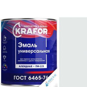 """Фото 4 - Эмаль Крафор """"ПФ-115 Белая"""" матовая, универсальная алкидная  уп - 6 шт, по [1.9кг] Krafor."""