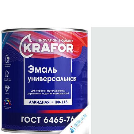 """Фото 11 - Эмаль Крафор """"ПФ-115 Белая"""" глянцевая, универсальная алкидная  уп - 14 шт, по [0.9кг] Krafor."""
