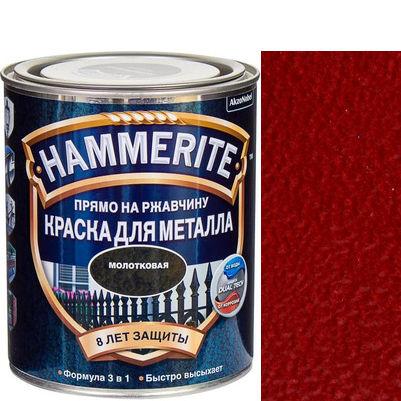 Фото 7 - Краска Хаммерайт  Красная, молотковая для металла 3 в 1  [2.5л] Hammerite.